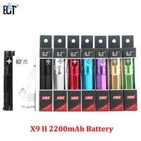 5 pcs X9 II eletrônico Bateria Eletrônica Bateria 2200 mah 3.3 V-4.8 V Atualizado E cig X9 cigarros Bateria para Atomizador E Cigs