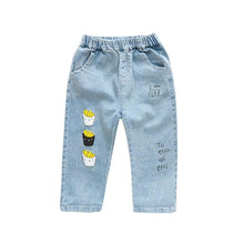 Toddler Jeans Pants 2019 Spring Children Clothes Boys Girls Long Straight Print Denim Trousers Korean Fashion Kids Jeans 1-5Yrs tbz 1 5yrs kids sweaters new 2016 winter spring girls clothes fashion boys clothes little rabbit embroidered knitting wool suit
