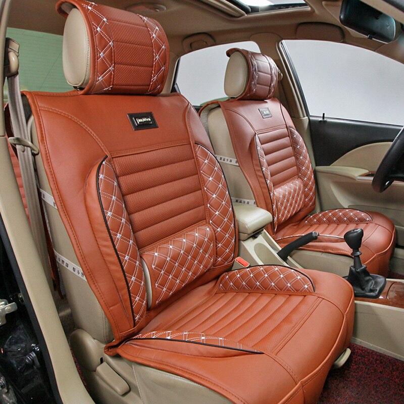 leather car seat mat auto seat cushion seat cover car leather saddle