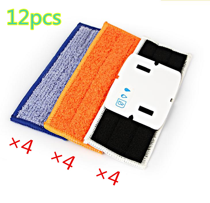 12 pcs/lot robot cleaner brushes spare parts 4pcs Wet Pad Mop +4pcsDamp Pad Mop + 4pcs Dry Pad Mop for iRobot Braava Jet 240 241 good quality 5300mah 3 7v replacement battery for for irobot bravva jet 240 241 244 robot cleaner parts accessoies not mop