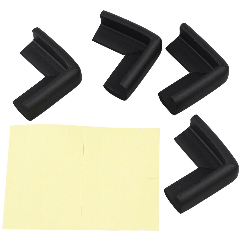 Table Cupboard Worktop Corner Cover Protector Cushion 4 Pcs Black