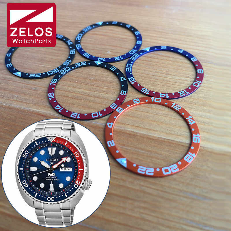 Luminous watch pepsi coke bezels inserts loop for Seiko Diver/Prospex watch parts tools