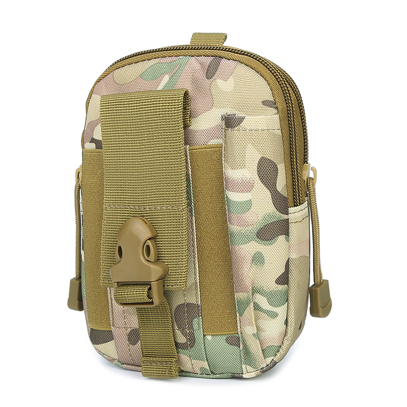 2pcslot Camping Hiking Emergency Military Camouflage Empty Bag Nylon First Aid Kit Waist Pack Bag first aid kit outdoor travel trauma emergency treatment waist bag tactic style
