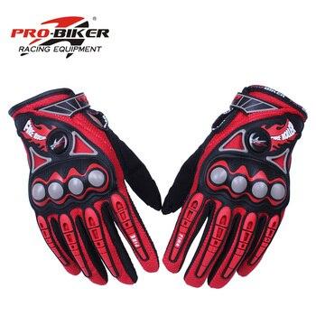 PRO-BIKER hommes gants de course de moto Motocross tout-terrain Enduro complet doigt gants d'équitation taille: M L XL 4 couleur