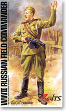 RealTS Tamiya Military Model 1 16 WW2 Russian Field Commander Figure Scale Hobby 36314