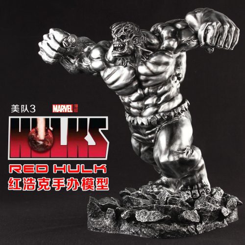 7.8KG Avengers Captain America 3 Civil War Red Hulk 35CM Set Action & Toy Figures Model for Festival Birthday Gift Ornaments captain america civil war iron man 618 q version 10cm nendoroid pvc action figures model collectible toys