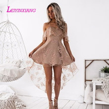 LEIYINXIANG Elegant New Arrival Evening Dresses Sexy Robe de Soiree Luxury A Line Backless Lace Sweetheart Sleeveless Custom Fit