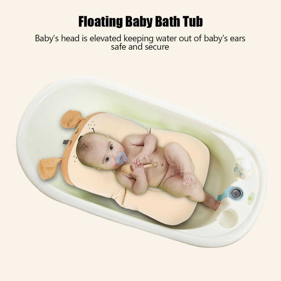 Floating Baby Bather and Non Slip Baby Bath Pad with Soft Air Cushion as Shower Bed for Infant 8
