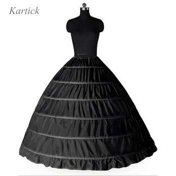 Large Petticoats For Adult Wedding/Formal Dress Black White 6 hoops Ball Gown Big Underskirt In Stock Plus Size Puffy Crinoline 2018 new hot sell 6 hoops big white petticoat super fluffy crinoline slip underskirt for wedding dress bridal gown in stock