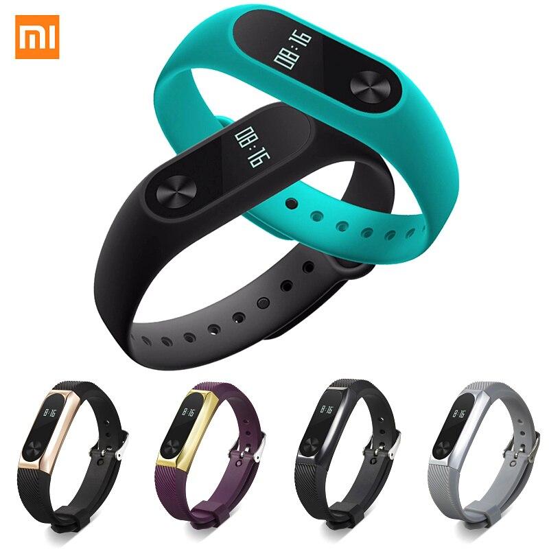 imágenes para Xiaomi Mi Banda 2 Touchpad Pantalla Pulsera Correa Puls Heart Rate Monitor Podómetro Muñequera Gimnasio Rastreador IP67 RU ePacket