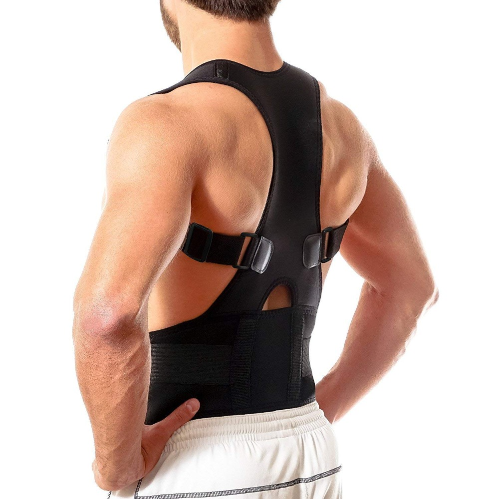 Back Brace Posture Corrector Best Fully Adjustable Support Brace Improves Posture and Provides Lumbar Support For Lower and pain