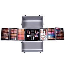 MISS ROSE makeup eyeshadow suits cosmetic bag professional box with brush lip gloss lipstick blusher nail polish