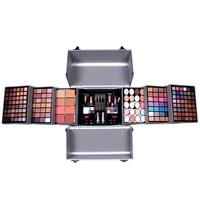 MISS ROSE makeup eyeshadow makeup suits cosmetic bag professional makeup box with brush lip gloss lipstick blusher nail polish