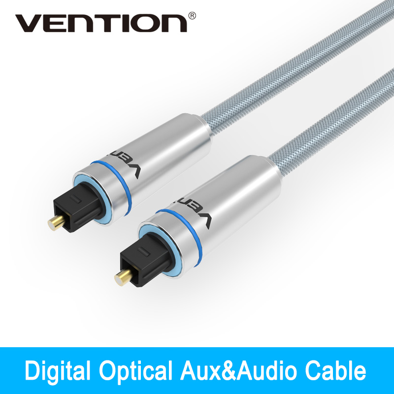 Vention Digital Optical audio cable Toslink gold plated 1m 2m 3m SPDIF coaxial cable for <font><b>Blu-ray</b></font> CD DVD player Xbox 360 PS3 AV