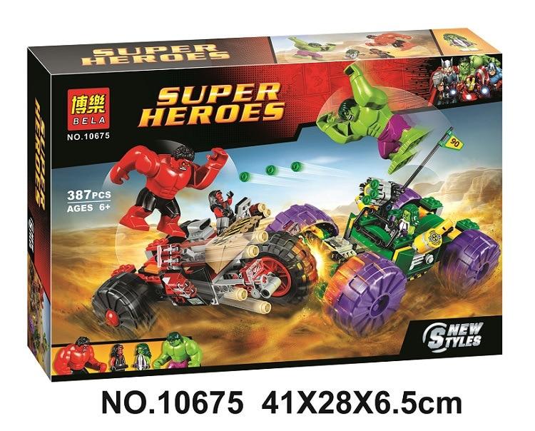 Bela Batman Super Heroes Hulk Vs Red Hulk Building Blocks Kits Bricks Movie Model Kids Classic Toys Marvel Compatible Legoings More Discounts Surprises Model Building