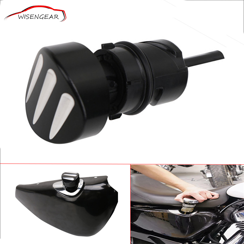 WISENGEAR Motorcycle Accessories Black Oil Dip Stick Filler Plug For Harley Sportster Forty Eight 48 XL 883 1200 C L N R C/5 motorcycle cnc skull brake clutch levers fits for harley sportster xr xl 1200 883 fits forty eight 2014 2015 2016 black