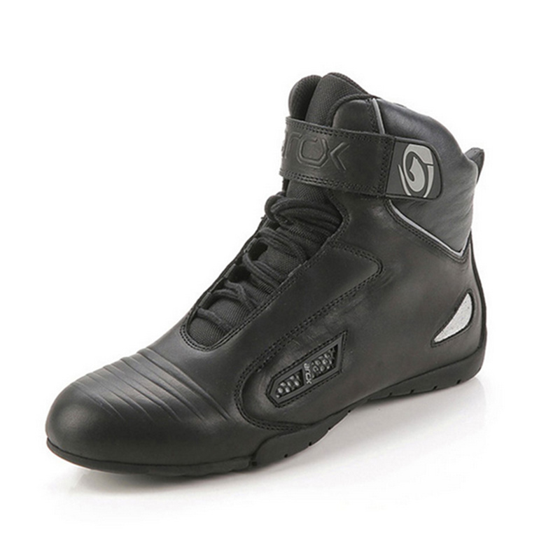 ARCX Motorcycle Road Racing Boots Ankle Genuine Cow Leather Chopper Cruiser Touring Street Moto Biker Motorbike Riding Shoes off road lightweight breathable motorcycle road racing shoes boots genuine pro biker motorcycle riding boots