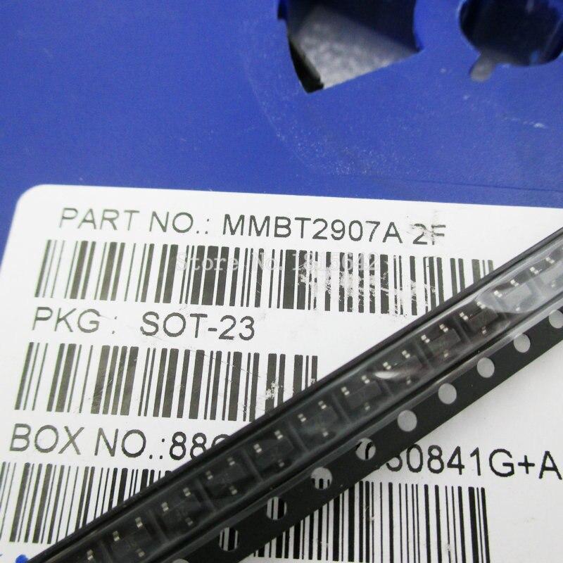 100PCS/Lot Transistor MMBT2907ALT1G MMBT2907A MMBT2907 2N2907 2F SOT-23 0.8A/60V SMD Triode