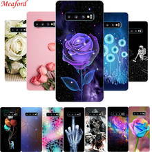 Floral Case For Samsung Galaxy S10 Plus Case S10+ Soft Silicone TPU Phone Case For Samsung S10e S10 lite Back Cover S 10 Coque for samsung s10 case tpu soft silicone back cover for samsung galaxy s9 s10 plus case for samsung s10e lite case cover bumper