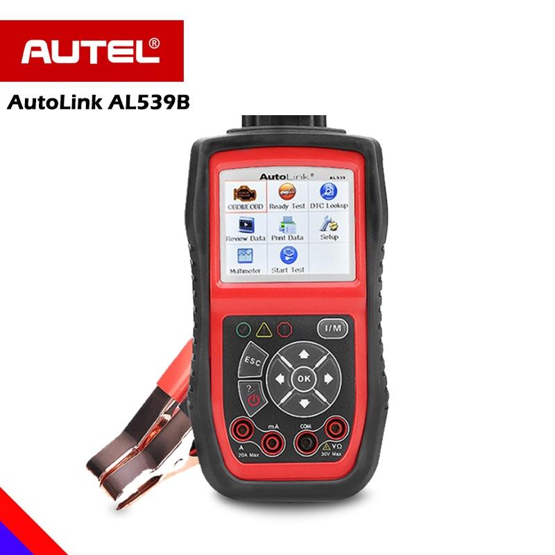 Autel AutoLink AL539B OBD OBD2 Car Diagnostic OBD 2 Full Function Code Reader Battery Analyzer Charging System Diagnostic Tool