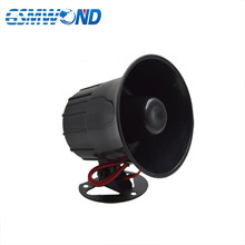 High decibel 12v Anti theft alarm Horn FOR family security alarm system Black high pitched alarm
