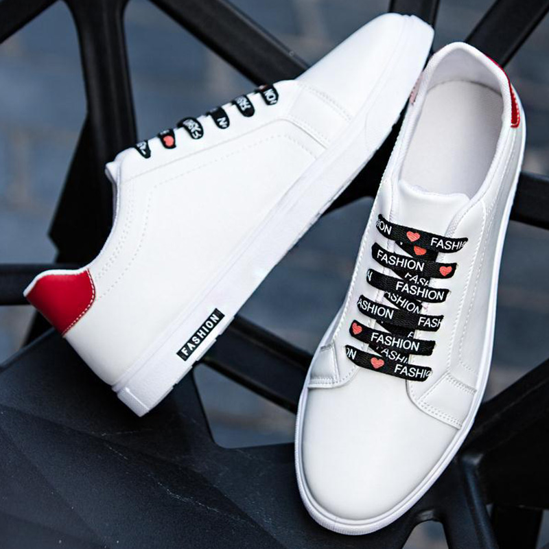Leather Sneakers Casual Shoes Men White Sneakers Flat 2020 New Arrival Designer Laces Comfort Sneakers Sport Shoes Man