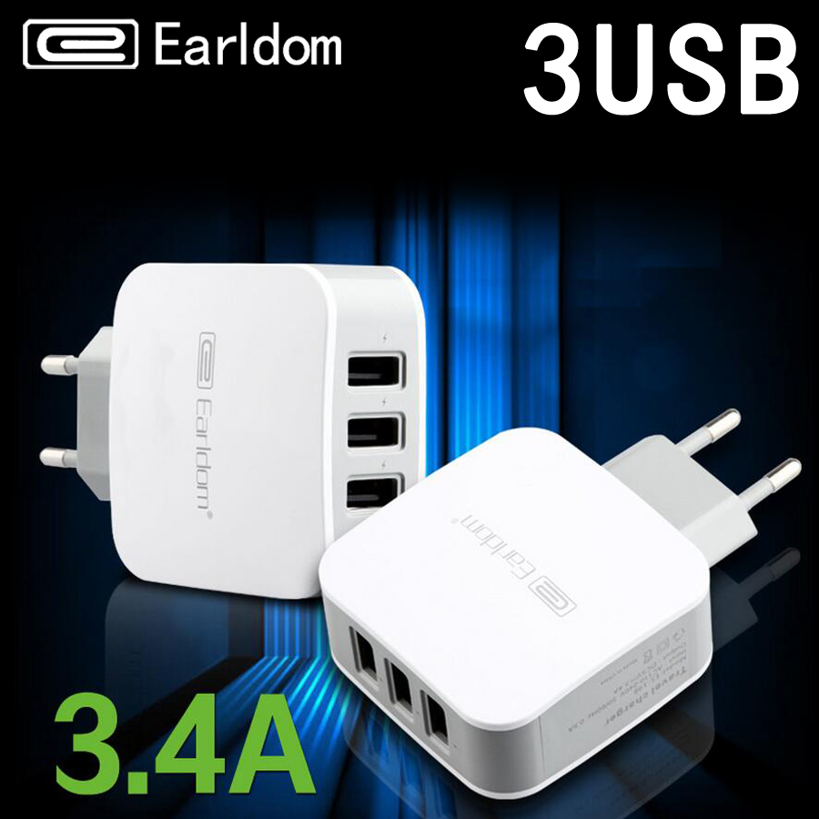 Earldom Fast Wall 3 USB Charger for Phone Adapter Quick Charge for Samsung iPhone Xiaomi ...