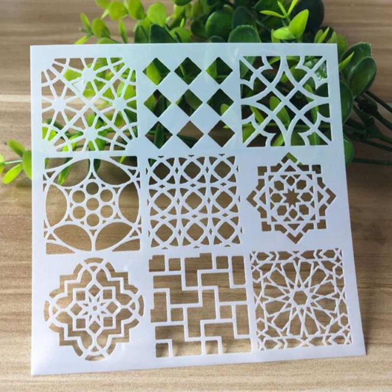 1pc Stencils Template Mesh Drawing Paper Craft Stencils Painting Tools Photo Album Scrapbooking Bullet Journal Stencils Reusable