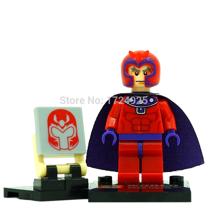 Marvel Magneto Figure Single Sale Super Hero Building Blocks Superhero Avengers Sets Models Bricks Toys SY259 carb environmetal diy creative office desktop wood stationery holder 4 layer a4 file organizer clips holder desktop file tray