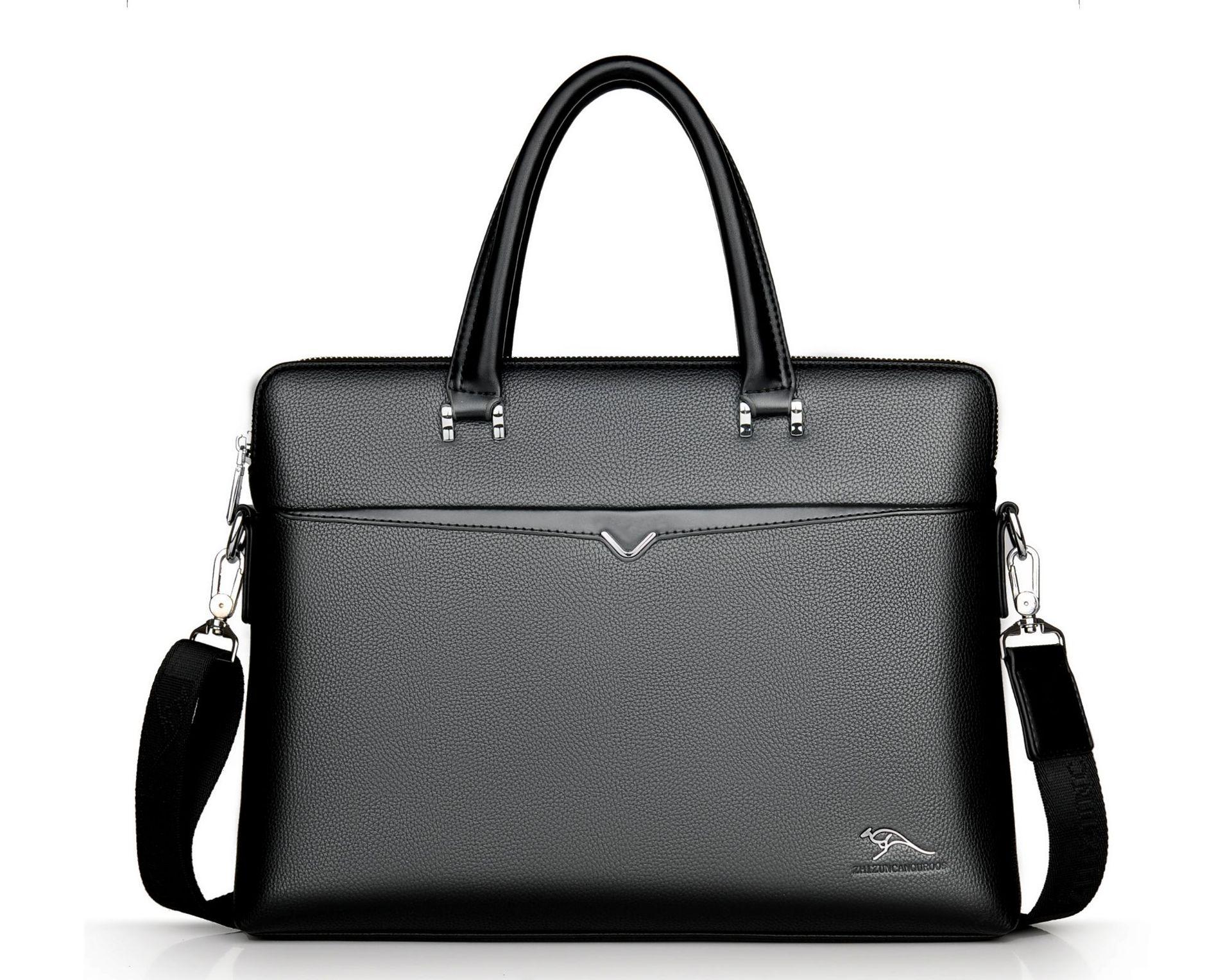 New Luxury Leather Business Men's Briefcase Lager Male Fashion Shoulder Bag Men Messenger Bag Boy Casual Tote Computer Bag