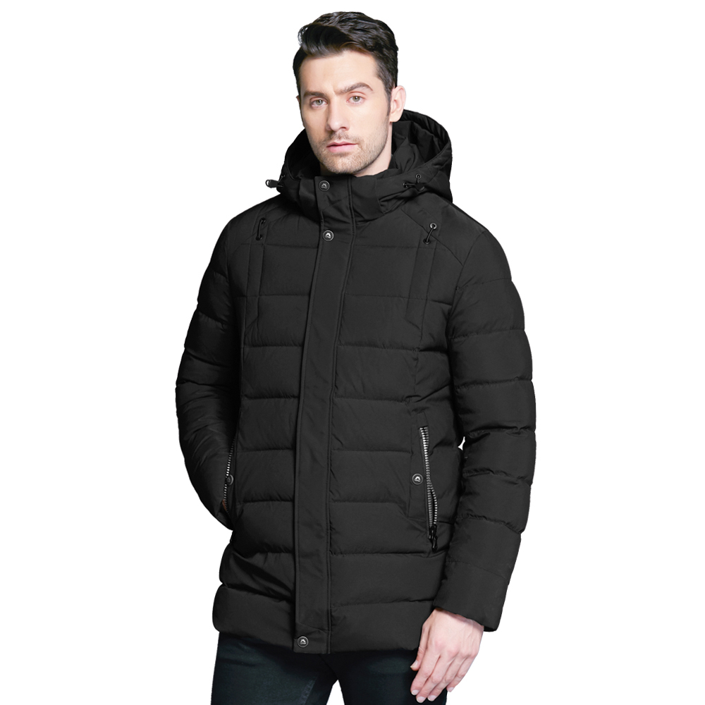 ICEbear 2018 new men's winter  jacket warm detachable hat male short coat fashion casual apparel man brand clothing MWD18813D icebear 2018 men s apparel winter jacket men mid long slim thick warm top quality waterproof zipper brand coat for men 17md942d