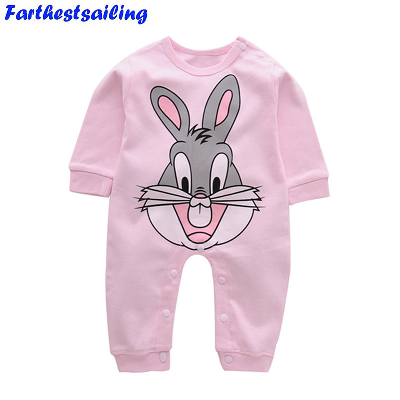 92f2a0b84 Buy Newborn Cotton Baby Girl Rompers Infant Romper Children Clothes ...