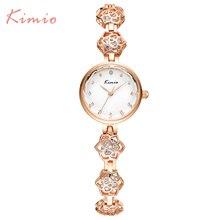 2016 New Kimio Brand Women's watches unique design Camellia Quartz bracelet wristwatches women ladies dress watch with Gift Box
