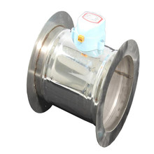 Stainless steel electric damper bilateral flange ventilation valve check regulator with