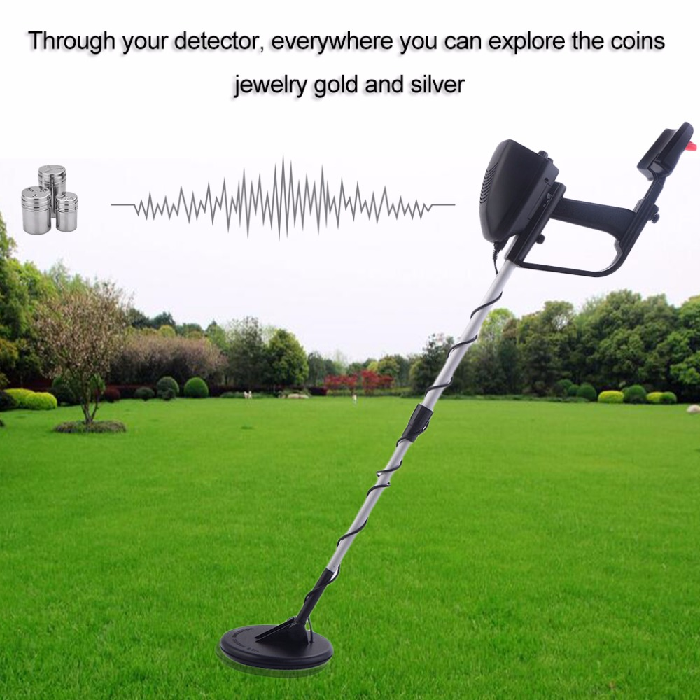 Metal Detector Portable Lightweight Underground Metal Detector Finder Metal Length Adjustable Under Shallow Water MD4030