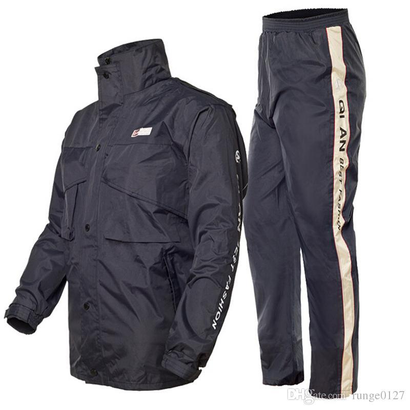 Para hombre de La Motocicleta Pantalones de Lluvia Impermeable Conjunto Impermea
