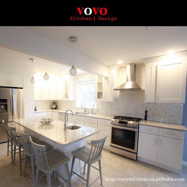US $4399.0 |Armadio Da Cucina In Legno Massiccio In Stile Classico  americano Shaker-in Mobili da cucina da Miglioramento della casa su  Aliexpress.com ...