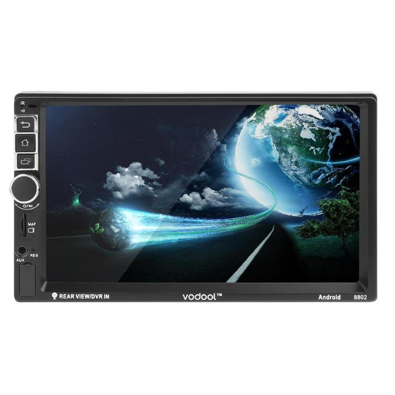 VODOOL 7 Touch Screen 2Din 1080P HD MP5 Player Android Bluetooth 4G WiFi Car GPS Navigator FM Radio MP3 Reversing Image Monitor vodool 2din bluetooth in dash 7 1080p car stereo mp5 player fm radio with rear view backup camera reversing display monitor kit