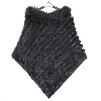 ZY82002 2016 جديد stylewomen الشتاء أزياء محبوك اللون الطبيعي أرنب فرو مع الراكون الفراء طوق كبير الحجم وطويلة المعطف