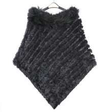 ZY82002 2016 New StyleWomen Winter Fashion Knitted Natural Color Rabbit Fur with