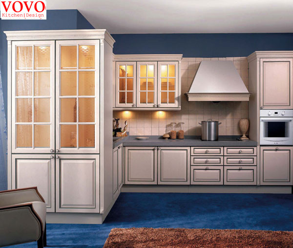 Frosted glass kitchen cabinet-in Kitchen Cabinets from ...