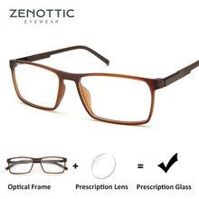 ZENOTTIC Square Prescription Glasses For Men Frmae Optical A