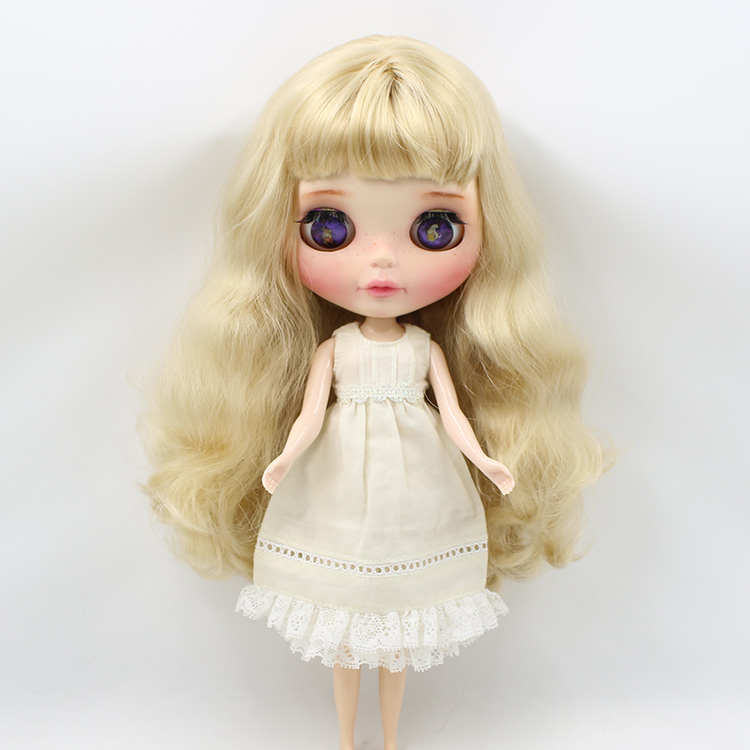 free shipping for blyth doll icy 1/6 30cm rice white cream white yellow dress pants lace бокал для вина nachtmann 13 92082