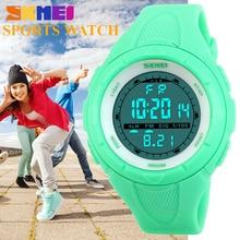Moda Casual Sport Mujeres Impermeable de Los Relojes de Alarma Regalo Reloj Chico Joven SKMEI LED Reloj Digital de pulsera relogio feminino