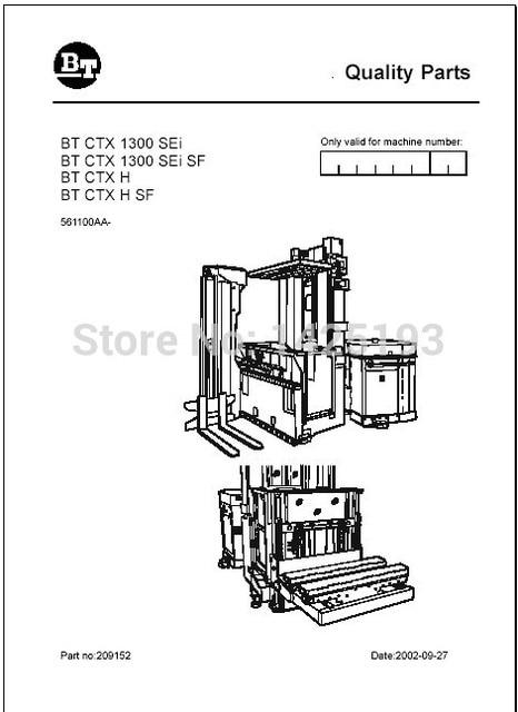 BT Gabelstapler Ersatzteile PDF 2012 Für Toyota in BT