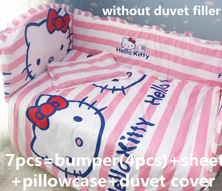 Discount! 6/7pcs crib bedding cot sheets cuna baby crib bumper sets unisex ,120*60/120*70cm детское постельное белье baby crib bedding set 7 cuna cot sheets