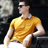 Men S T Shirt Tops Tees Tshirt Business Casual England Style Short Sleeve For Summer New