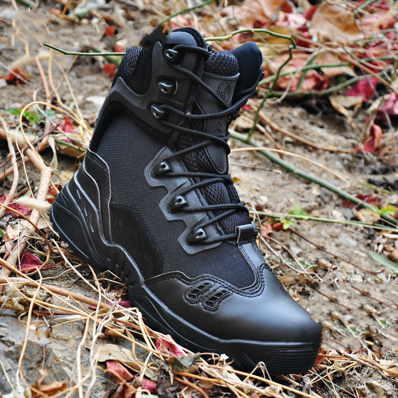 Men Military Boots Antiskid Breathable Waterproof Hiking Boots Desert Tactical Boots Sneakers Men Outdoor Climbing Sports Shoes 2018 hiking boots 2017rax spring summer hiking shoes men breathable outdoor 3 8women antiskid walking shocking offroad climbing