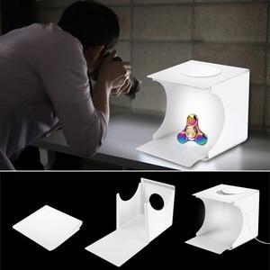 Image 3 - صندوق إضاءة صغير محمول قابل للطي استوديو التصوير الفوتوغرافي صندوق لين LED صور صندوق لينة آيفون DSLR كاميرا صور خلفية