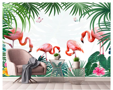 Custom home decoration photo background wallpaper peacock in the tree with dancing room hotel fresco mural-3d wall